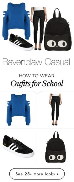 """Ravenclaw Casual"" by abouteverythingd on Polyvore featuring Liz Claiborne, adidas and WearAll"
