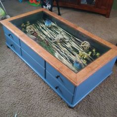 How To Build Glass Top Shadow Box Coffee Table Craft