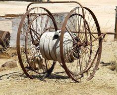 Fire hose cart vintage