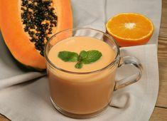 Batido de papaya y naranja #receta #recetasMycook Smoothies, Panna Cotta, Detox, Juice, Fruit, Ethnic Recipes, Club, Food, Papaya Smoothie