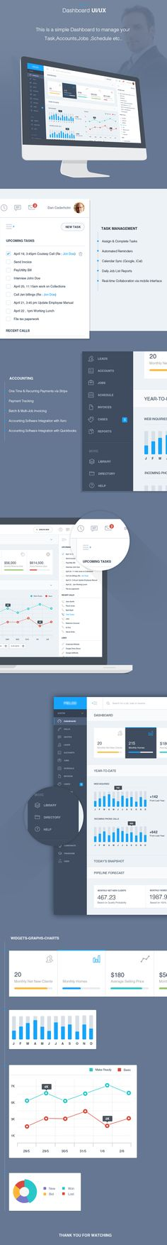 Dashboard Admin for Task/Accounting Management UI/UX on Behance