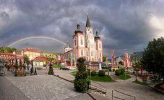 #Basilika in #Mariazell mit #Regenbogen
