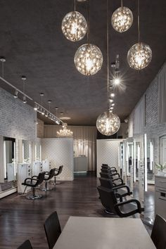 2014 NAHA finalist - Salon Design || HC Studio. Brookline, MA. Photographer: Chelsea Kyle || Paul Mitchell the School Cleveland || [via: http://probeauty.org/nahagallery/year/2014/salondesign/]