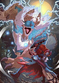 Monster Hunter Series, Monster Hunter Art, Character Concept, Character Art, Character Design, Fantasy Dragon, Dragon Art, Shadow Wolf, Fantasy Concept Art