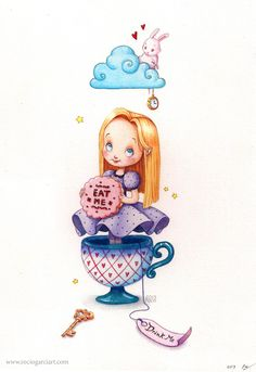 Alice in Wonderland by RocioGarciaART.deviantart.com on @DeviantArt