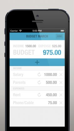 #BUDGT will help you keep track of your Expenses in a very simple way and tell you how much money you can spend each day, taking in account what you have already spent during the current month.