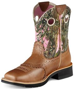 """Womens Fatbaby Cowgirl Round Toe 8"""" Boots 