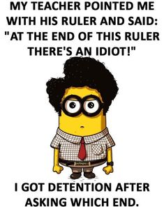 Here we have some of Hilarious jokes Minions and Jokes. Its good news for all minions lover. If you love these Yellow Capsule looking funny Minions then you will surely love these Hilarious jokes. Funny Minion Pictures, Funny Minion Memes, Funny Jokes To Tell, Crazy Funny Memes, Really Funny Memes, Minions Quotes, Funny Relatable Memes, Funny Humor, Minions Pics