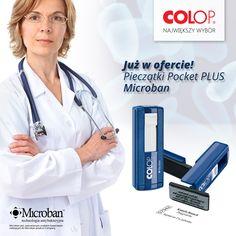 Wygoda i ochrona czyli Pocket Plus z ochroną antybakteryjną MicrobanTM.  Polecane tym, którzy pracują w ciągłym ruchu, a narażeni są na występowanie szkodliwych bakterii. Pocket Plus 20 lub 30 z trwałą ochroną MicrobanTM to idealne rozwiązanie dla pielęgniarek. Dzięki możliwości zawieszenia Pocket Plus na smyczy lub zahaczeniu o kieszeń, pieczątka nie przeszkadza podczas wykonywania innych czynności. Pozostaje zawsze pod ręką.  Sprawdź pełną ofertę pieczątek COLOP Microban