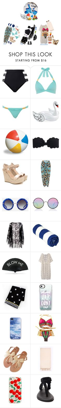 """""""Kat, Rae & Geum Hee _ Pool Party w/ Friends"""" by purrfectas ❤ liked on Polyvore featuring Fleur du Mal, Vero Moda, Wembley, Sunnylife, Beautiful People, J.Crew, Lenny, Dolce&Gabbana, Sunday Somewhere and Pussycat"""