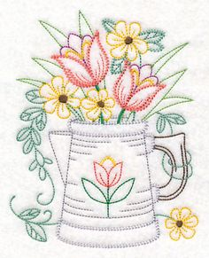 Crewel Embroidery Design Machine Embroidery Designs at Embroidery Library! - New This Week Crewel Embroidery Kits, Embroidery Flowers Pattern, Embroidery Transfers, Learn Embroidery, Machine Embroidery Patterns, Vintage Embroidery, Cross Stitch Embroidery, Embroidery Thread, Flower Patterns