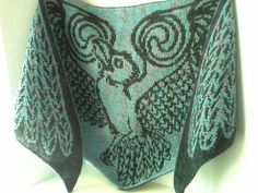 Ravelry: Thought and Memory - Celtic Raven pattern by Tania Richter