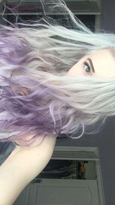 White, Grey, Purple Pastel Hair