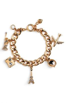 My charm bracelet will tag along so I can add a few French themed trinkets.