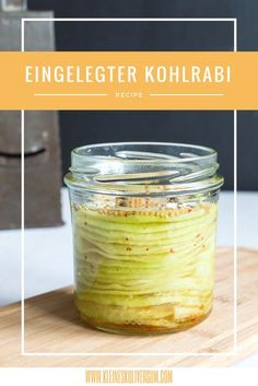 Scharf eingelegter Kohlrabi - list of healthy recipes Kohlrabi Recipes, Mackerel Recipes, Raw Food Recipes, Cooking Recipes, Healthy Recipes, Slow Cooking, Drink Recipes, Homemade Recipe Books, Chou Rave