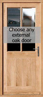 Oak Pre Hung External Door Set