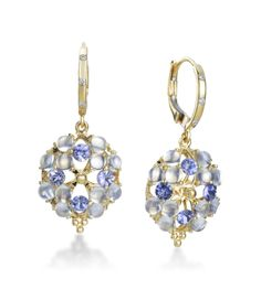 Temple St. Clair - Moonstone Collection 18K Yellow Gold Moonstone Cluster Earrings