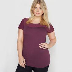 T-shirt bi-matière coton et modal manches courtes