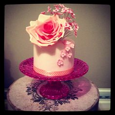 """Mothers day mini 4"""" cake"""