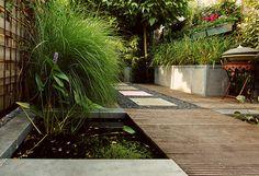 Backyard Pond Design, Garden Design, Small Gardens, Water Gardens, Garden Fountains, Interior Garden, Garden Spaces, Container Plants, Outdoor Rooms