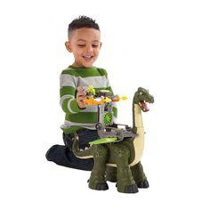 Fisher-Price Roaring Mega Apatosaurus  Boys and Girls Motorized Firing Cannons