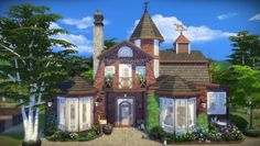 Frau Engel - Cats and Dogs House for The Sims 4