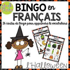 Bingo d'Halloween (FRENCH Halloween Bingo)