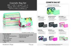 Thirty-One cosmetic bag set  http://www.MyThirtyOne.com/JSatterwhite