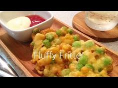 Fluffy and taste good cold too! - Edamame and Corn Fritter. | foodandcooking
