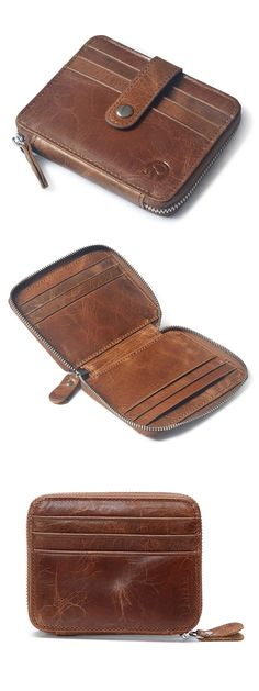 US$11.32+Free shipping.Men's Bag, Genuine Leather Bag, Coin Bag, Coin Wallet, Cowhide Card Holder. Color: Deep Coffee, Deep Brown, Dark Coffee, Black, Khaki, Red.