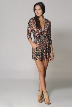e1986ce3e5a Veronica M Long Sleeve Surplice Romper