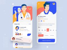 Doctor Appointment designed by Washi for UI Flocks. Connect with them on Dribbble; Ios 7 Design, Graphic Design Tips, Dashboard Design, Design Design, Washi, Sign Up Page, User Experience Design, Customer Experience, App Design Inspiration