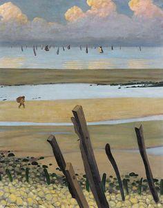 Low Tide at Villerville Painting  - Low Tide at Villerville - Félix Vallotton
