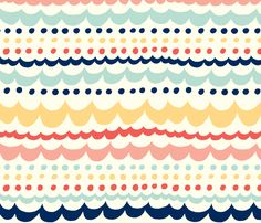 Scallop_Fun fabric by stacyiesthsu on Spoonflower - custom fabric