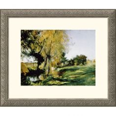 Great American Picture At Broadway Silver Framed Print - John Singer Sargent - 205088-Silver