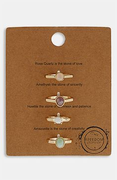 Topshop 'Message' Rings (Set of 4) available at #Nordstrom