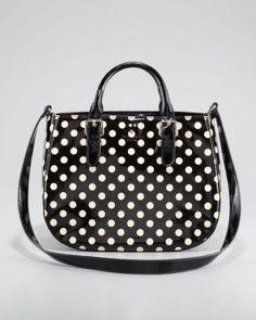 Kate Spade Sylvie Carlisle Street Polka Dot Patent Leather Satchel Bag | eBay
