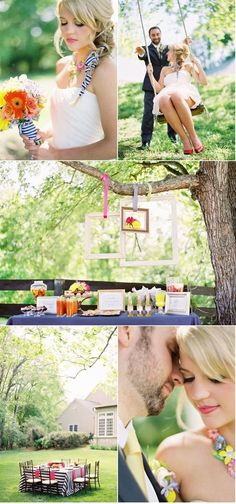 Love the frames hanging from the trees! by jordan