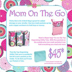 Goonan's Creations www.mythirtyone.com/carlaoates January 2015 Customer Special Bundle Thirty One Games, My Thirty One, Organizing Utility Tote, 31 Party, Diaper Bag, Party Things, Gifts, Bags, 31 Ideas