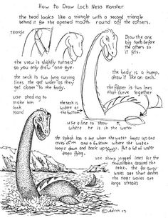 The Loch Ness Monster.  http://drawinglessonsfortheyoungartist.blogspot.com/2013/06/how-to-draw-loch-ness-monster-worksheet.html