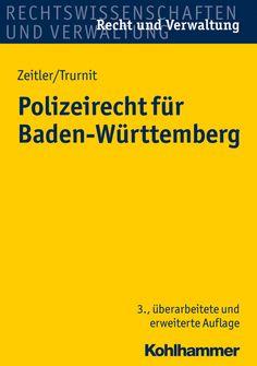 #Polizeirecht für Baden-Württemberg, Zeitler /Trurnit bei Dienst am Buch Vertriebsgesellschaft mbH