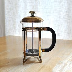 vintage french press coffee maker... Item sold on Etsy... pinning to keep design handy for future creative projects, possibly!
