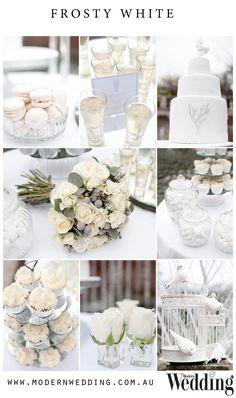 Frosty #White #Wedding Mood Board // For a full list of credits visit www.modernwedding.com.au