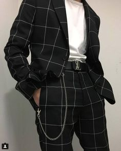 Love a good windowpane suit clothing fashion laurent men s menswear saint spring style suiting suits trends ysl yves Fashion 60s, Fashion Mode, Fashion Outfits, Classic Fashion, Fashion Styles, Fashion Black, Style Fashion, Feminine Fashion, Classic Man Style