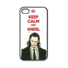 New Keep Calm and Kneel Loki Thor Tom Hiddleston Apple iPhone 4 4S... ($13) ❤ liked on Polyvore