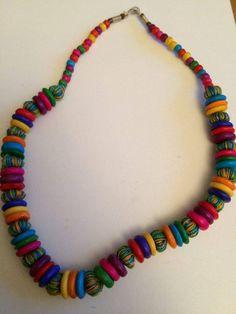 1 Halskette aus Indien Schmuck Kette Hippie Goa Bollywood Neu Hippieschmuck Nr.1