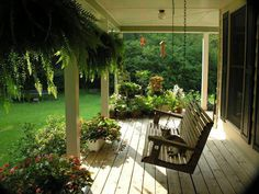 Perfect porch swing