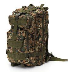 Outdoor military tactical rucksack camping hiking trekking backpack - US$23.23