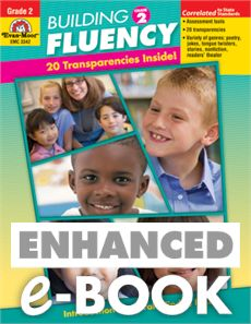 """""""Building Fluency"""" (Grade 2) is full of selections that students will want to read again and again. It includes poems, rhymes, songs, jokes, tongue twisters, fiction and nonfiction selections, and readers' theater selections. Find the teacher resource in e-book or bound format at evan-moor.com."""