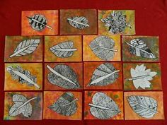 The result of the picture for summer art education - Education Fall Art Projects, School Art Projects, Fall Arts And Crafts, 2nd Grade Art, Middle School Art, Art Lessons Elementary, Autumn Art, Leaf Art, Art Lesson Plans